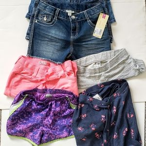 Girls Bundle of 7 pieces 3 jean shorts,+ more S 10